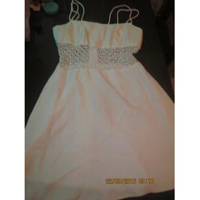 Hermoso Vestido Coctel Blanco Talla M