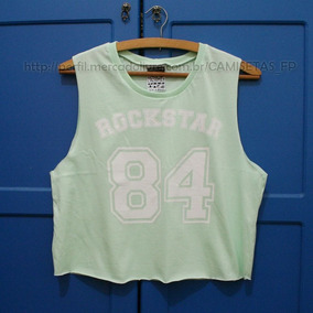 Cropped Blusa Feminina T-shirt Swag Fitness Numero 84 Top