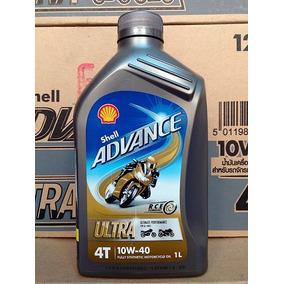Aceite Sintetico Moto Shell Advance Ultra 4t 10w 40 1 Litro.