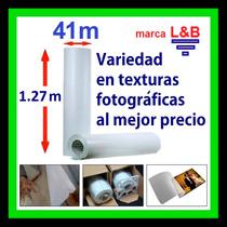 Variedad En Texturas L&b Para Laminar Fotografías, 1.27x41m