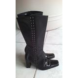 Liquido!!!botas De Cuero Balenciaga Suela Febo Caña Alta N36