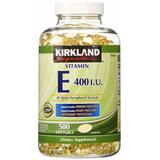 Vitamina E 400 I U, Importada E E U U, 500 Softgels, 1xdía