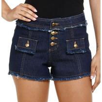 Short Feminino Em Jeans Detalhe Desfiado Tam 38 E 40! Novo