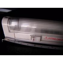 Luz Fluorecente Mini 10 Watt Tubo T4 Con Apagador Y Base