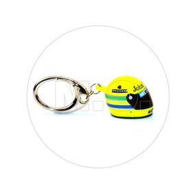 1:12 - Iron Studios Chaveiro F1 Capacete Ayrton Senna 1985