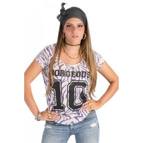 Franela Zebra Ancha Corta 10 Gorgeous Morado Saints Clothes