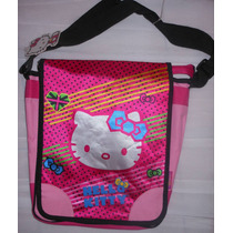 Mochila Ruz Hello Kitty Tipo Bolsa Morral Mensajero