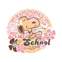 Snoopys Hula School Peanuts Print On Canvas