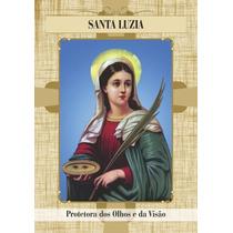 Santinho Santa Luzia - Milheiro De Promessa E Oração