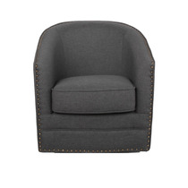 Sillón Porter And Classic Retro Beige Fabric Upholstered Sw