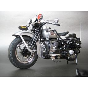 Miniatura Harley Davidson Panhead 1948 Police F. Mint 1/10