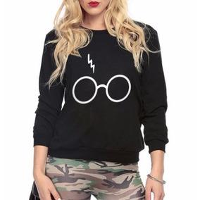 Casaco Moletom Gola Careca Blusa De Frio Harry Potter Hp