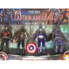 Capitão América Guerra Civil - Civil War Kit Com 4 Novo