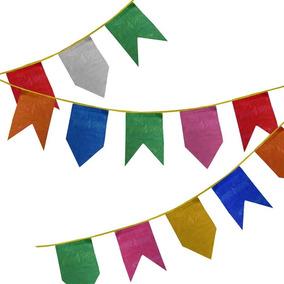 Bandeirinha Festa Junina Plástica 10 Pacotes De 10 Metros