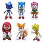 Coleção Kit Action Figure Sonic The Hedgehog 6 Bonecos Sega