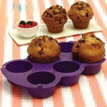 Molde Muffins Silicona Muffinera Atpo Horno Microondas