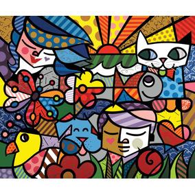 Tecido Romero Britto 140x100 (modelo 7) 50,00