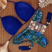 Bellisimo Bikini Azul/verde Corte Brasileño Syl