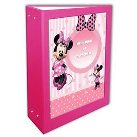 Álbum Minie Rosa Pink 15x21 - 200 Fotos + Brinde Especial