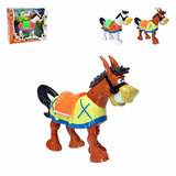 Brinquedo Infantil Burro Move Pernas Cabeça E Cauda Pilha