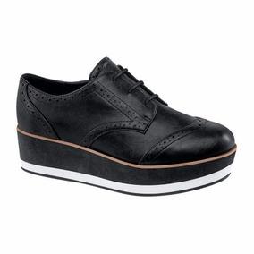 Zapatos Oxford Bostoneanos Mujer Plataforma Tacón Corrido