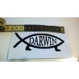 4 Pegatinas Vinilico Atea Pescado De Darwin Como Envío Libre