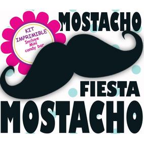 Kit Imprimible Fiesta Mostacho - Editable Invitaciones