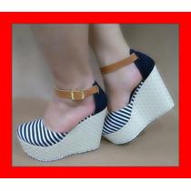 Sandalias Para Dama, Plataforma Calzado Colombiano 36-38