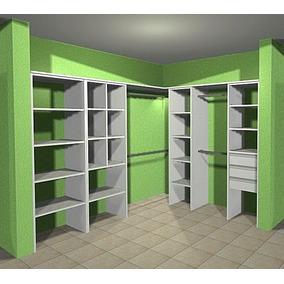 Vestidor 2.40 X 2.00 - Modulos+barrales+piso De Baulera