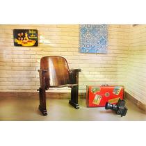 Cadeira Poltrona Cinema Cimo Anos 50 - Móvel Antigo Promoção