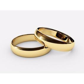 Argollas Matrimoniales Oro Amarillo 10kt Solidas