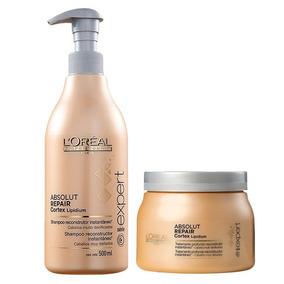 Loréal Absolut Repair Kit Shampoo 500ml + Mascara 500g