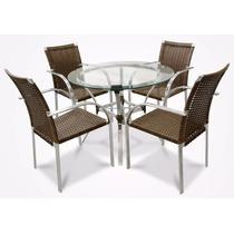 Mesa 4 Cadeiras Área Externa Jardim Lazer - Promoção