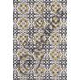 Tecido Jacquard Estampado Azulejo Português Ouro 20m X 1,40m