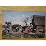 Postal Gauchezca - El Gato Baile Nacional Circa 1910