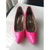 Scarpin Verão Rosa Pink Neon Fluorescente Tamanho 36