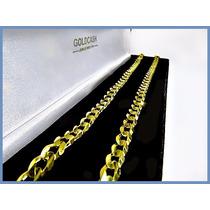 Cadena Oro Amarillo Solido 14k Mod. Barbada De 6mm 28grs Acc