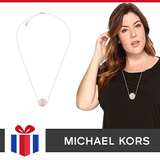Michael Kors Collar Quarzo Rosa Mkj5480 - Original Nuevo