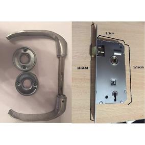 Combo Cerradura Puerta Placa + Picaporte Ministerio Aluminio