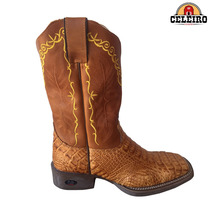 Bota Texana Durango Em Couro De Jacaré Whisky/canela