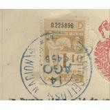 Boleto Compra Venta 1945 Estampillas 1.40c Y 0.50c