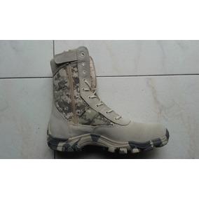 Botas Tipo Militar Swat Caña Larga Camufladas Pixeladas