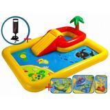 Playcenter Pileta Infable Intex Ocean + Inflador + Envio