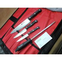 Set Cuchillos Arbolito Estudiantes-chefs-gourmet Con Funda!!