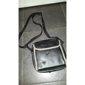 Bolsito Negro De Cuerina Con Abrojo Porta Discman Y 5 Cd