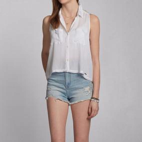 Camiseta Abercrombie Blusa Renda Top Tank Feminina Importada