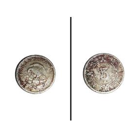 Moneda Antigua De 5 Centavos México 1936 Calendario Azteca