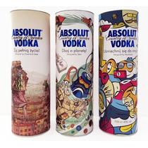Absolut Vodka Set De 3 Tubos Edic. Limitada Polonia Peppar