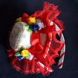 Enfeite De Cabelo Festa Junina Adult Infantil Tiara Vermelha