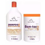 Botox Argan New Lisshair 1kg + Shampoo Antiresíduos